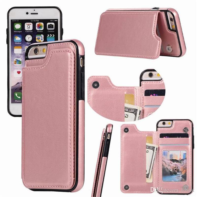 pretty nice ccc2a 6ca33 Leather Wallet Case For iPhone X XS MAX 7 8 Plus Shockproof PU Pouch Card  Slots Multifunctional Phone Cover For Samsung galaxy s9