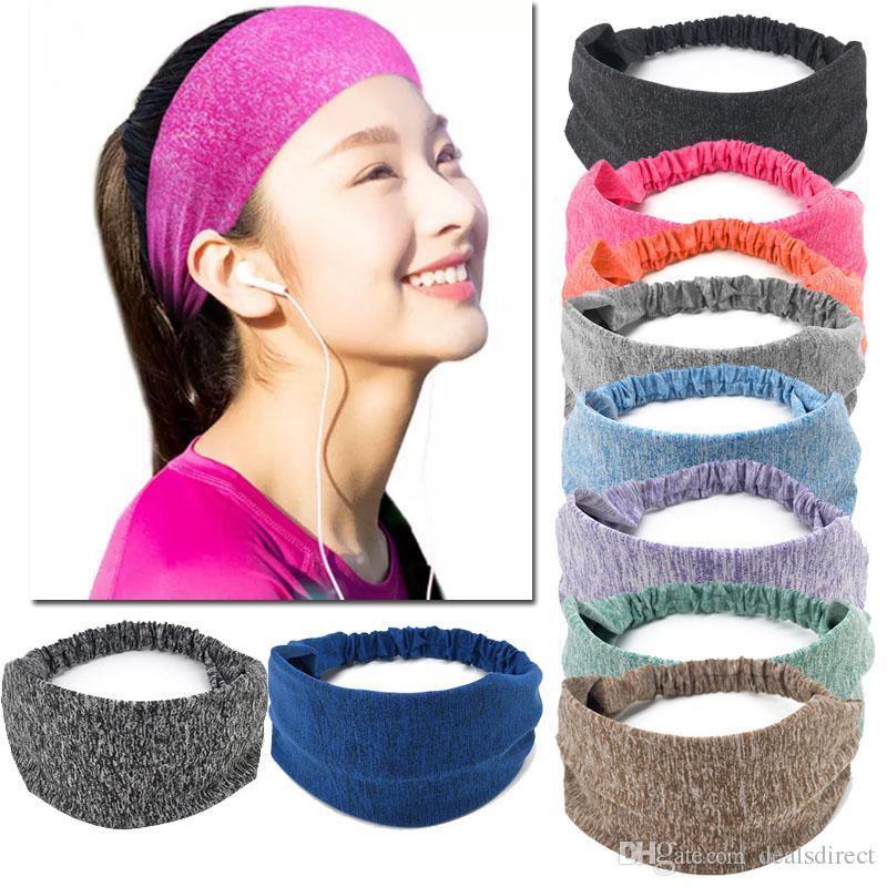 2019 Solid Sports Yoga Hair Band Unisex Stretch Headband Quick Drying Wrap  Gym Fitness Elastic Sweatband Head Wear Women Wen From Dealsdirect 35474180046