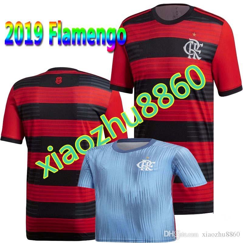 fadefd346aed3 NUEVO 18 19 Camisetas De Fútbol Flamengo A Domicilio Fuera 3er E. Ribeiro  GUERRERO DIEGO ZICO   20 VINICIUS JR Camiseta De FLAMENGO De Maillot De Pie  De ...