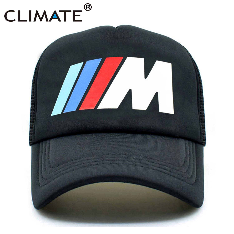 CLIMATE Men New Mesh Trucker Caps M3 M5 Car Fans Cool Summer Adult Logo Cool  Black Baseball Mesh Net Trucker Caps Hat For Men Hat Embroidery Cap Rack  From ... 8ea2caff4aa4
