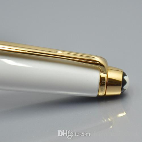 Meisterstucks 163 weiß Harz und goldenen Clip Roller Kugelschreiber Kugelschreiber Business Bürobedarf und MB Gem Deutschland Seriennummer