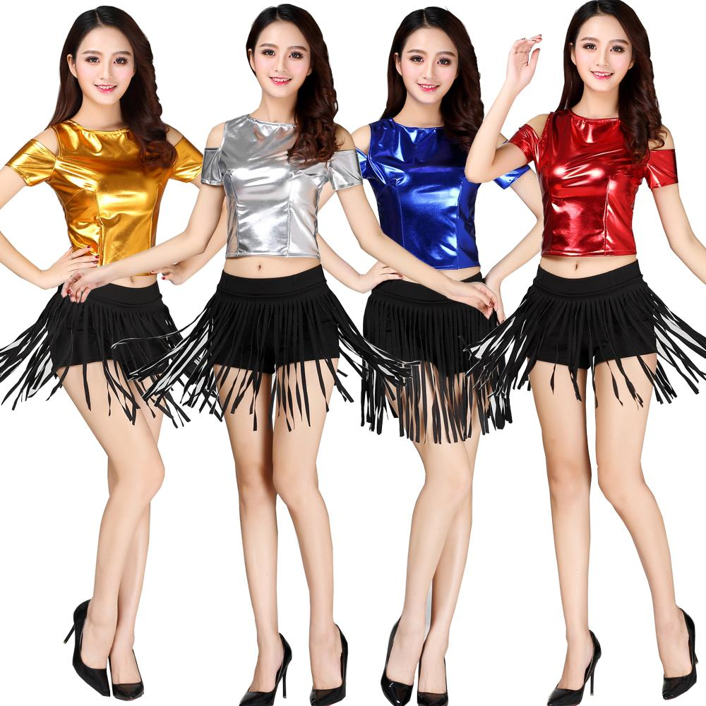 1645de067675 2019 Women Sequined Tassels Hip Hop Dancing Outfits Costumes Girls Stage  Wear Ballroom Party Stage Wear Dance Jazz Clothing Suit From Yzlwatchfine,  ...