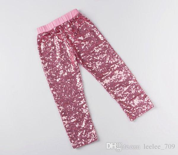 Toddler baby sequins leggings girls tights pants children christmas legging kids cotton infant gold hot pink black blue trouser