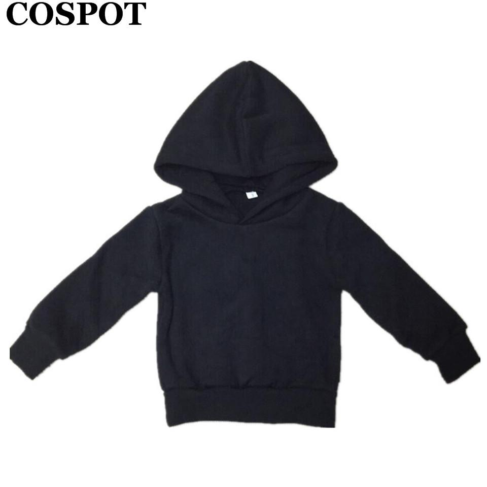 733f9353f5a09d COSPOT Baby Boys Girls Autumn Hoodies Boy Girl Cotton Sweatshirt Kids Plain  Black Gray Outfits Tops Children's Winter Coat 30E