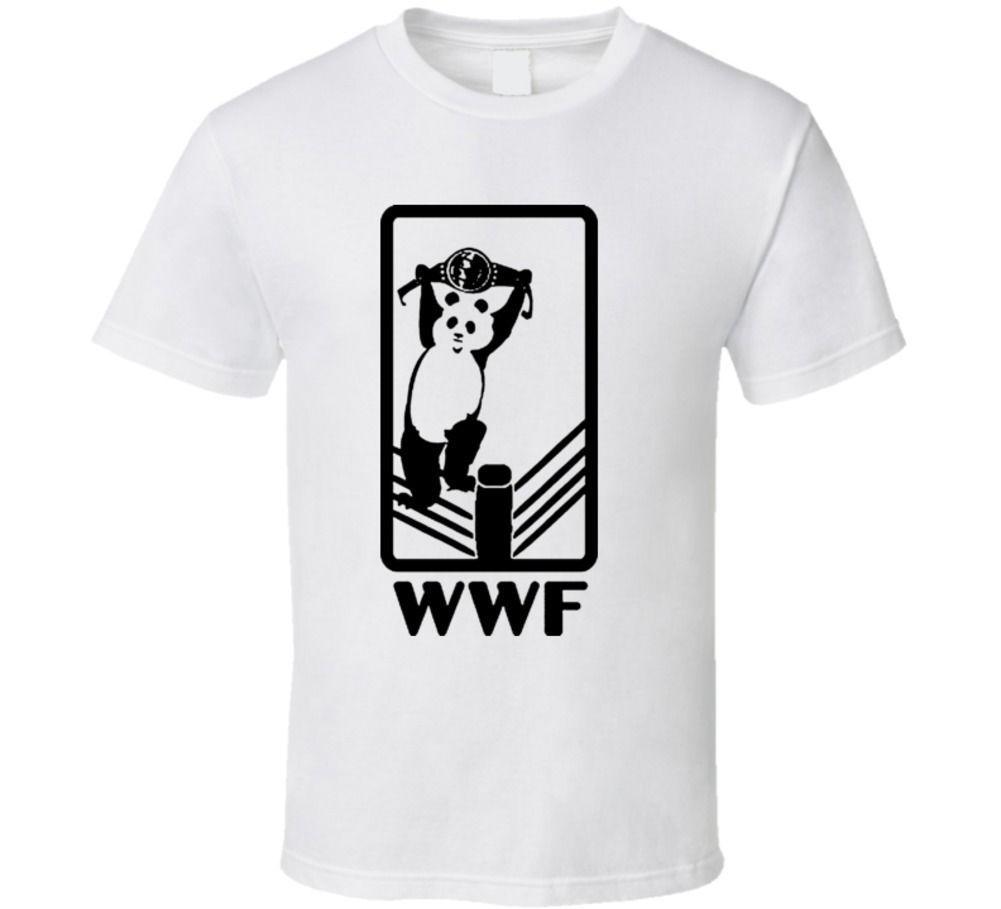 b2b6931477fb7e Wwf World Wildlife Federation Wrestling Panda Funny Joke T Shirt High  Quality Printed Tops Hipster Tees T Shirt Cool Shirts Designs Pt Shirts  From Dhga01