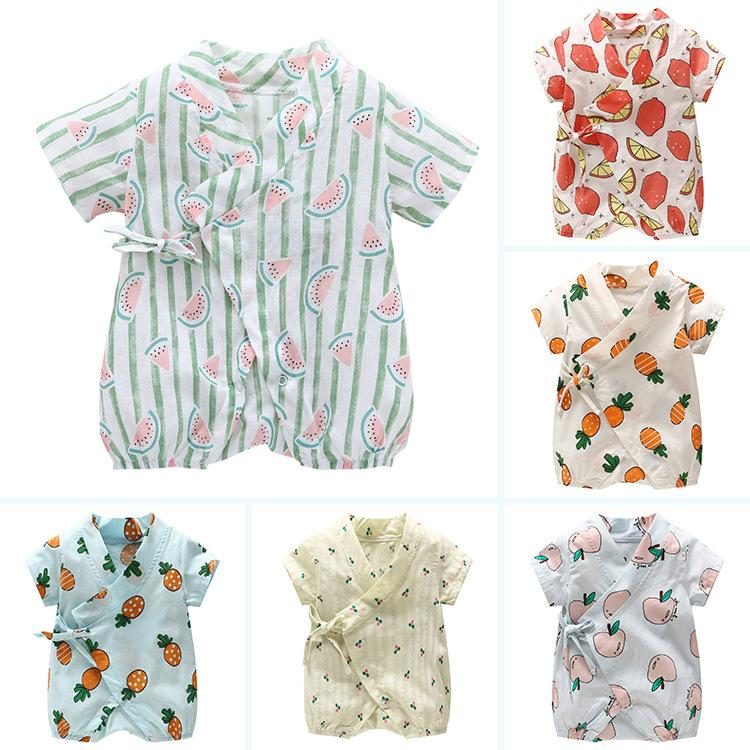 b1a5eda03 2019 New Floral Japanese Kids Clothes Kimono Summer Baby Clothing Girls  Boys Rompers Cotton Casual Tracksuit Infants Jumpsuits From Lovebabby, ...