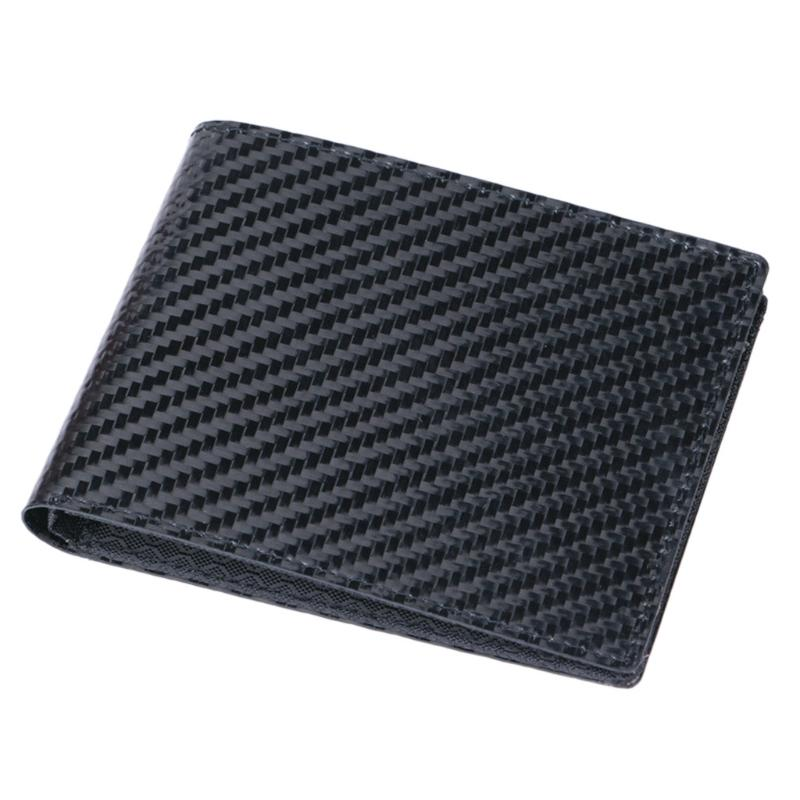 6eb582c84fff Fashion Men s Bifold RFID Blocking Carbon Fiber Wallet ID Card Holder Purse  Polyester Case 11x9cm