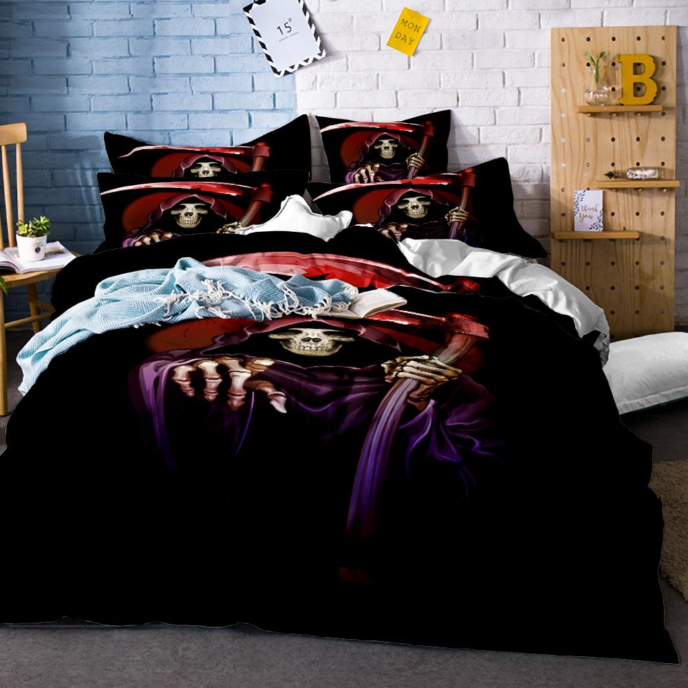 3D Bedding Set Skull Bedding Set Marylin Monroe Duvet Cover Twin Full Queen King Sugar Skull Halloween