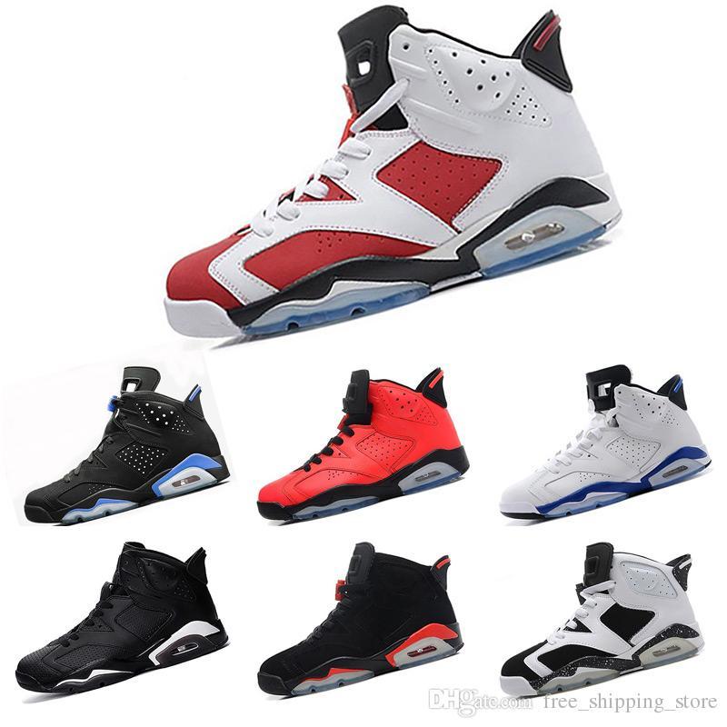 3b01b231951b48 6 Carmine Basketball Shoes Classic 6s UNC Black Blue White Infrared Low  Chrome Women Men Sport Blue Red Oreo Alternate Oreo Black Cat Shoes Kids  Mens ...