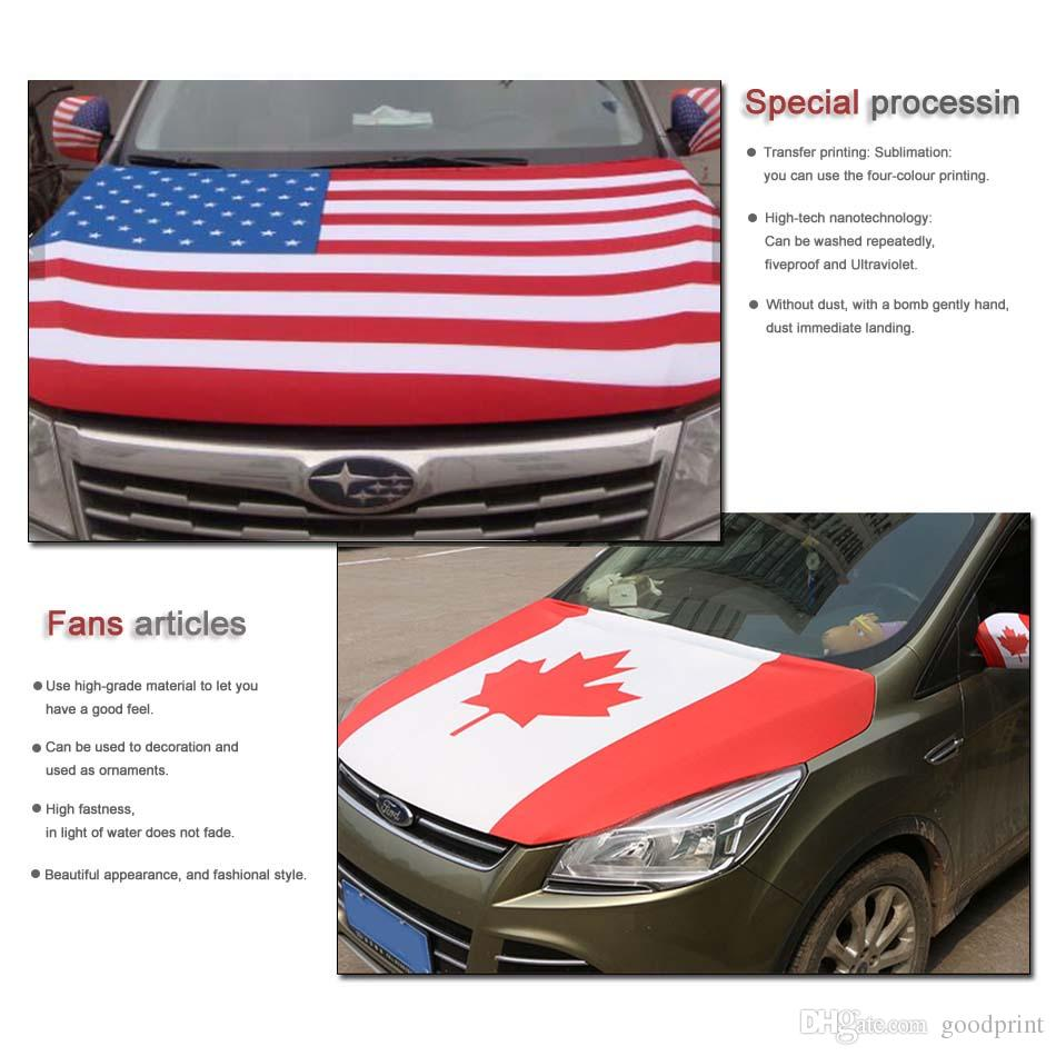 2018 Copa del Mundo de Rusia, Fútbol, Bandera de Japón Cubierta del capó del coche 3.3X5FT, Bandera del motor, Telas elásticas se pueden lavar
