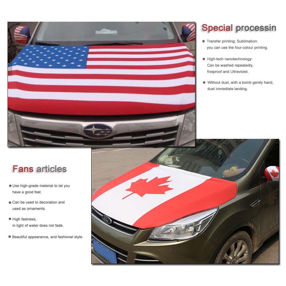 2018 Russie Coupe du Monde Football, Couverture de capot de voiture de drapeau du Mexique 3.3X5FT, Drapeau de moteur, Tissus élastiques pouvant être lavés