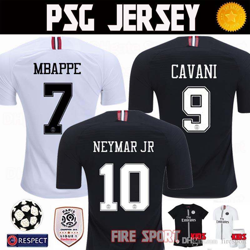 hot sales 0e91b 3d6de Thailand PSG Third Soccer Jerseys 2018 2019 Paris MBAPPE 3rd Black Cavani  Jersey 18 19 CHAMPIONS LEAGUE Survetement football kit shirts