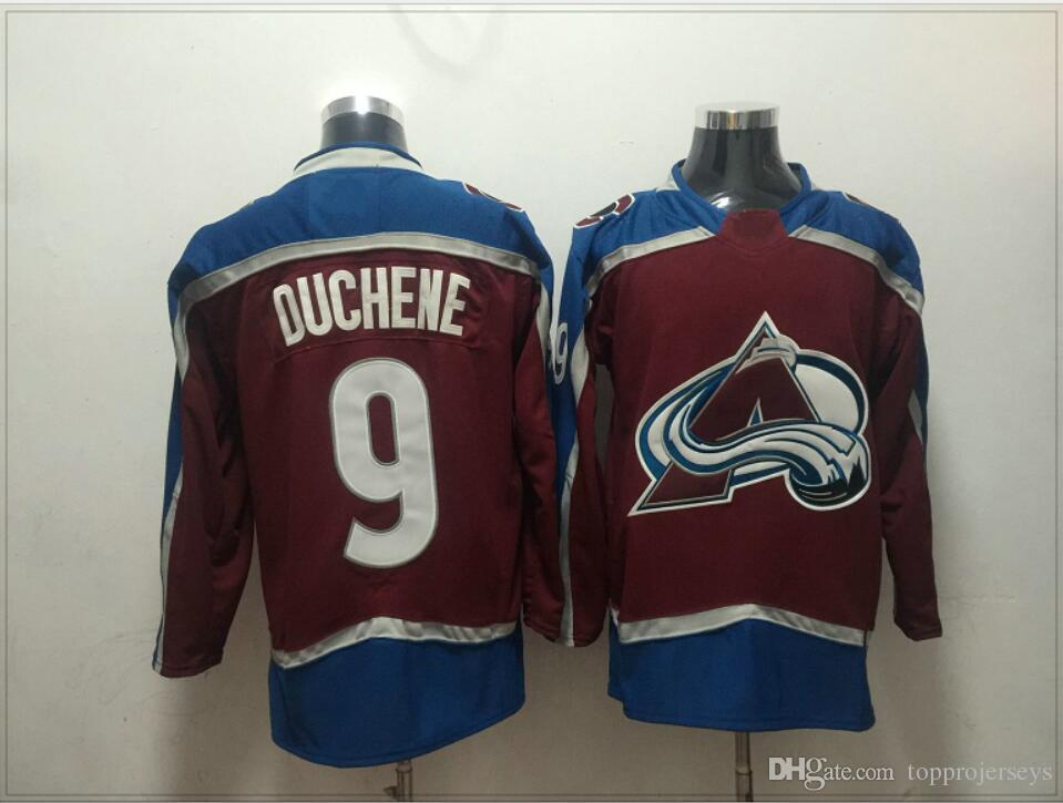 Mens Colorado Avalanche #9 Matt Duchene 19 Joe Sakic Ice Hockey Shirts Team Sports Jerseys Uniforms Vintage Stitched Embroidery For Sale