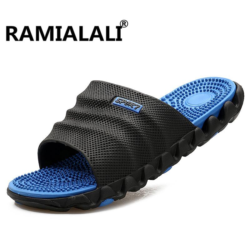 32995c1e02e Ramialali Summer Slippers Men Casual Sandals Leisure Soft Slides Eva  Massage Beach Slippers Water Shoes Men S Sandals Flip Flop Boots Shoes  Green Shoes From ...