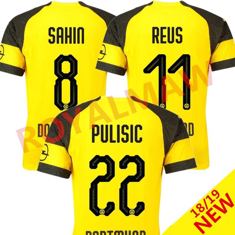 7d4ea561a64 18 19 Dortmund Shirt 2019 Top Thailand Soccer Jersey M. GOTZE REUS ...