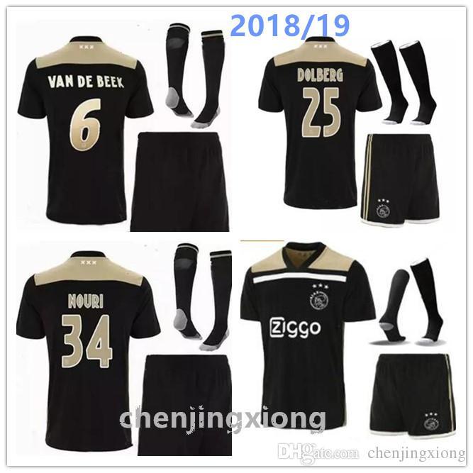 Compre Ajax Soccer Jersey 18 19 De Alta Calidad Ajax Away Jersey Kit 2018  2019 Personalizado KLAASSEN NOURI Uniforme De Fútbol CONJUNTO COMPLETO CON  ... 3e3bf04e38212