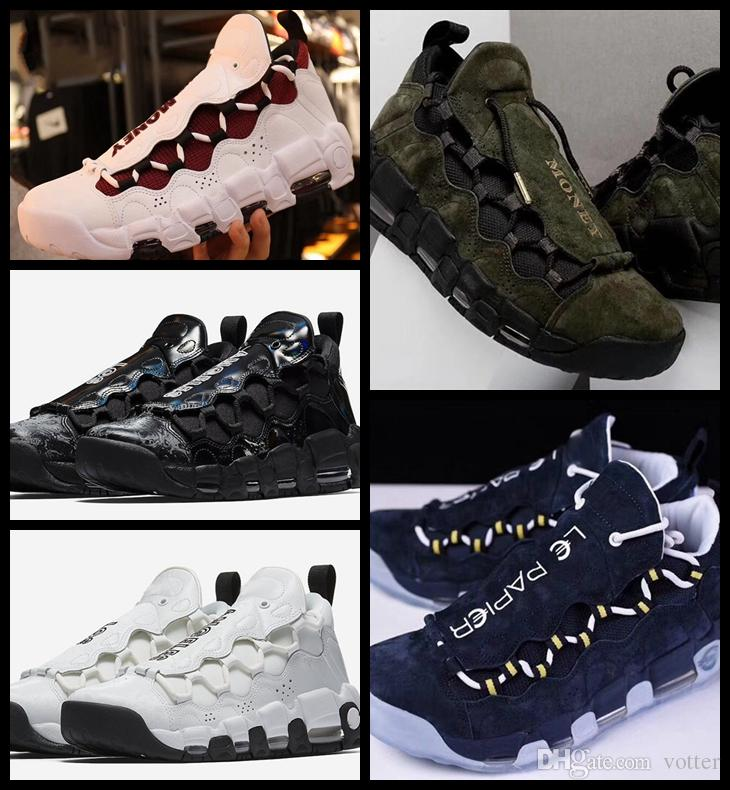 93c6f374df14 2018 More Money Qs Japan Usa Pound Scottie Pippen Fashion Basketball Shoes  For Uptempo Army Green Pink Athletic Sport Sneakers Zapatos 36 44 Sneakers  For ...