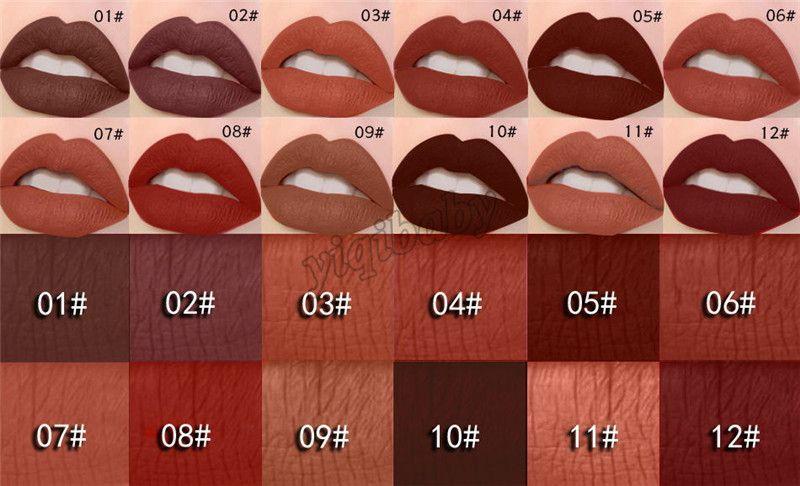 2018 Matte Lipstick MISS ROSE Make up Lips Gloss Waterproof Moisturizer Liquid Lipstick Nutritious Easy To Makeup Matt LipGloss