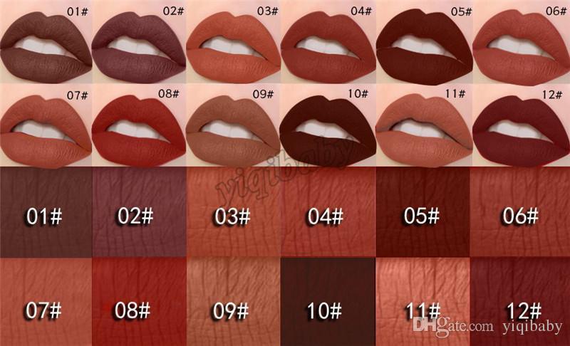 Matte Lipstick MISS ROSE Make up Lips Gloss Waterproof Moisturizer Liquid Lipstick Nutritious Easy To Makeup Matt LipGloss