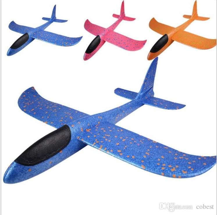 8514de45fb Compre 48 Cm Foam Throwing Glider Modelo Avión De Aire Inertia Aviones  Juguetes Lanzamiento De Mano Modelo De Avión Deportes Al Aire Libre Juguete  Volador ...