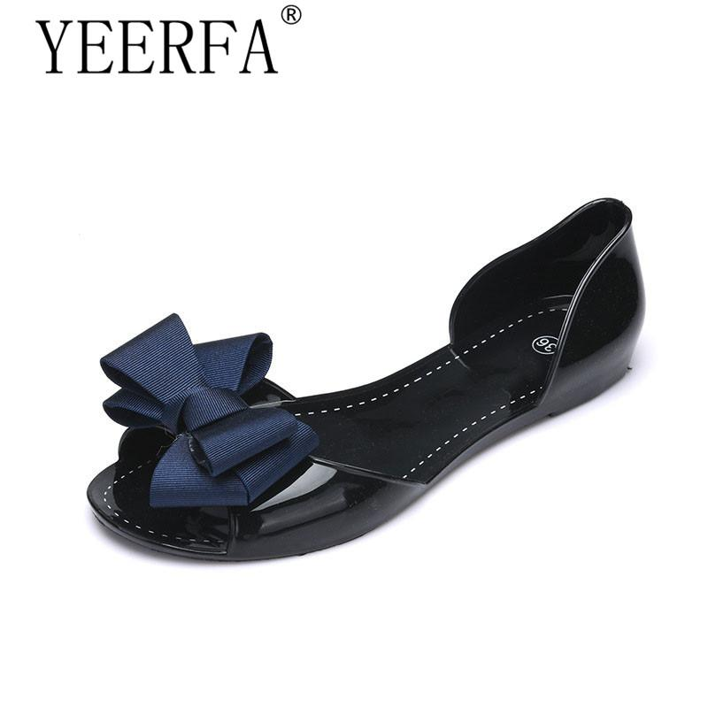 adbc6a70eae7 YEERFA Women Jelly Sandals Beach Jelly Shoes Woman Summer Style Flip Flops  Bowtie Slippers Slip On Flats Casual Women Shoes Shoe Sale Shoes Uk From  Bking
