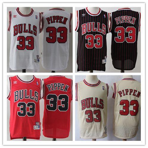 super popular 0b63f 7a8c2 Mens 33 Scottie Pippen Chicago Bulls Retro Basketball Jerseys Stitched  Embroidery Hardwood Classic Mesh Bulls Pippen Retro Basketball Jersey