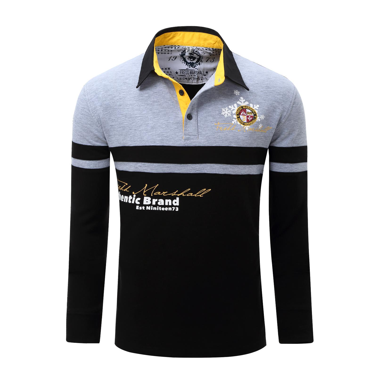 New Mens Polos Letters Male Casual Designer Polo Shirts Long Sleeve