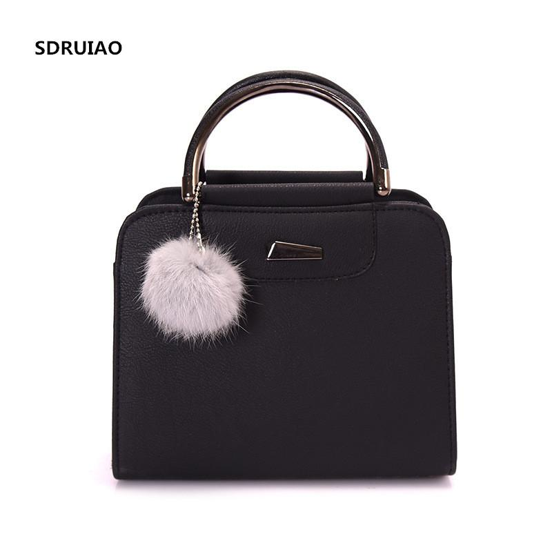 2018 Trendy Style Frosted Leather Woman Small Square Bag Fashion Wild Woman  Shoulder Bag Cute Plush Ball Messenger Mens Shoulder Bags Shoulder Bags For  Men ... d210d673708b5