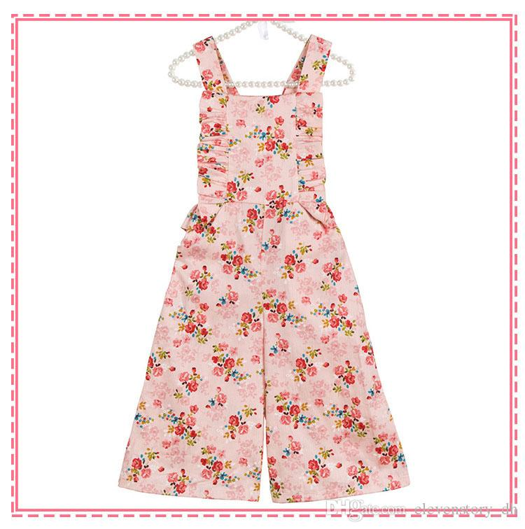2b70c212b898 2019 6 Months To 8 Years Baby Girls Summer Floral Rompers