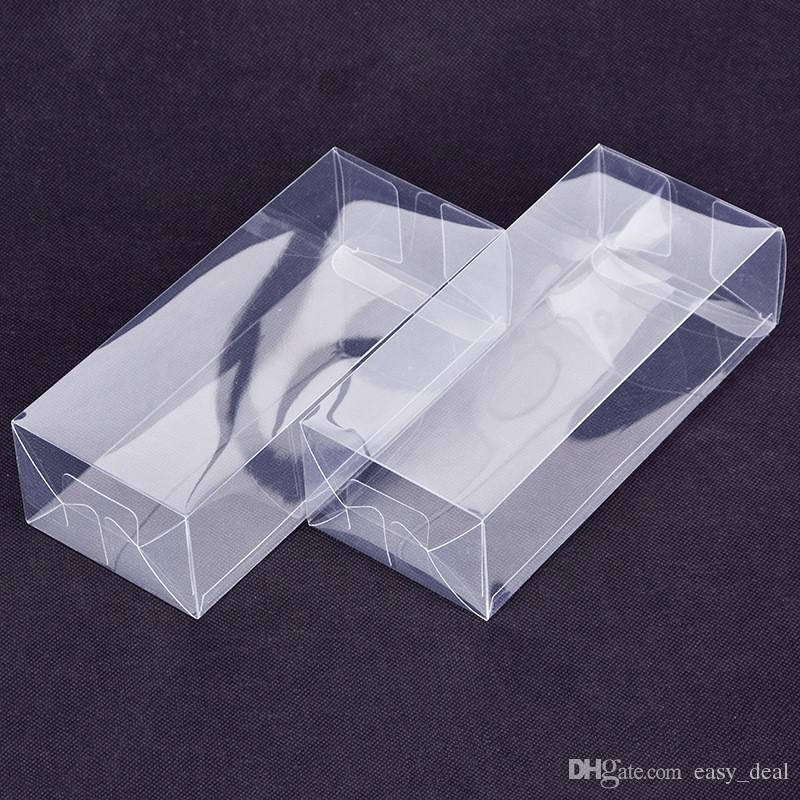 Caixa de Plástico Transparente Grande Retangular Caixa de Embalagem De Plástico PVC Caixa de Embalagem De Plástico / Presente / Artesanato Caixas De Exposição LZ1846