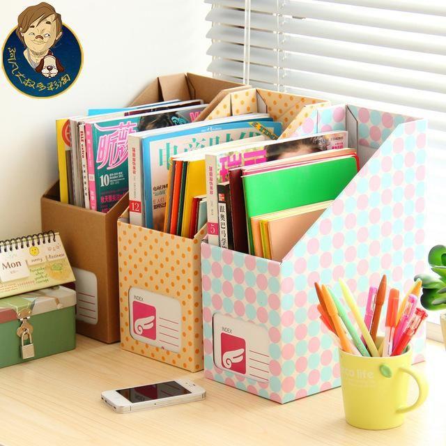 2019 Wholesale Paper Desktop Storage Box Large Office Stationery File Box  Diy Box Finishing Frame Set From Jamwer ad68563cf52e