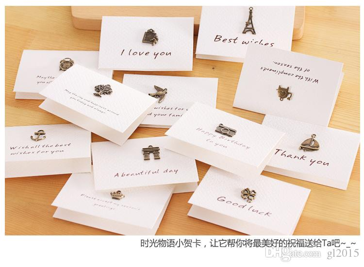 Fontes espertas do evento da festa de anos de 8.5x6.6CM cartões retros nostálgicos da arte do papel de embalagem
