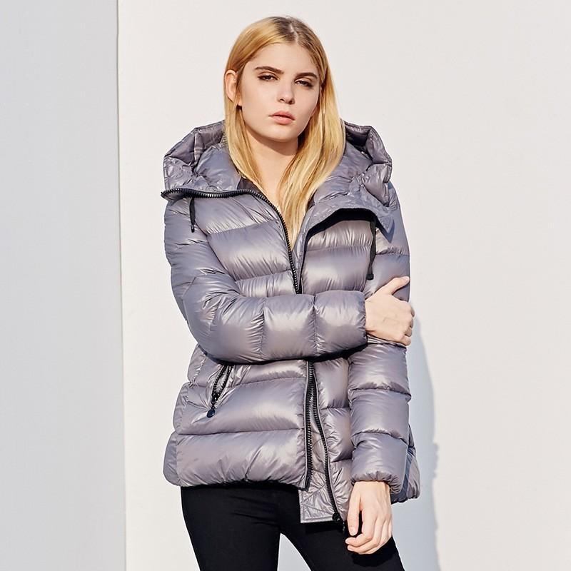 2018 Winter Neues Muster Kurz, Auch Hut Einfach High end Qualität Lose Mantel Licht Lange Fonds Frau Daunenjacken Jacke Frau