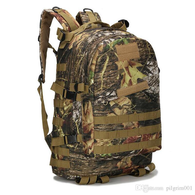Gimnasio táctico Mochilas Mochilas Bolsas maletas Equipaje Deporte al aire libre para escalar alpinismo Camping Senderismo Treking Mochila Viaje hombre 55L 3D