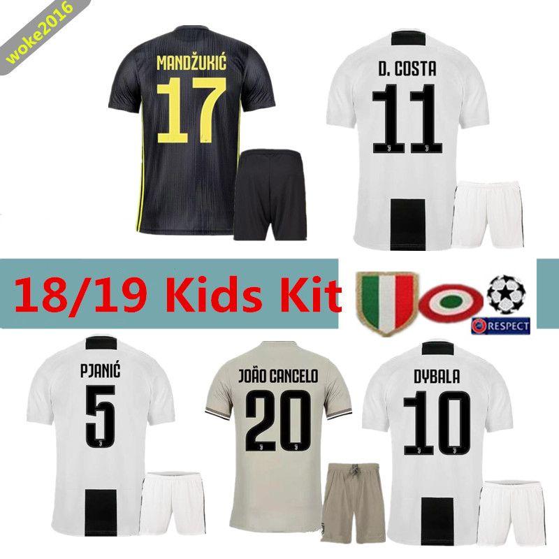 differently e24ca 36aa8 2018 19 Juventus children's suit jersey Ronaldo home white jersey 18 19  DYBALA BONUCCI juve maillot de foot Juventus away football uniform