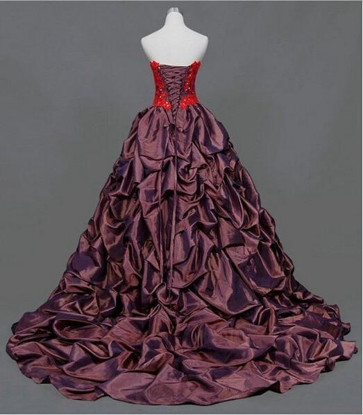 2018 design handmade red appliques beading floor length lace up custom size/color party ball gown long prom dress
