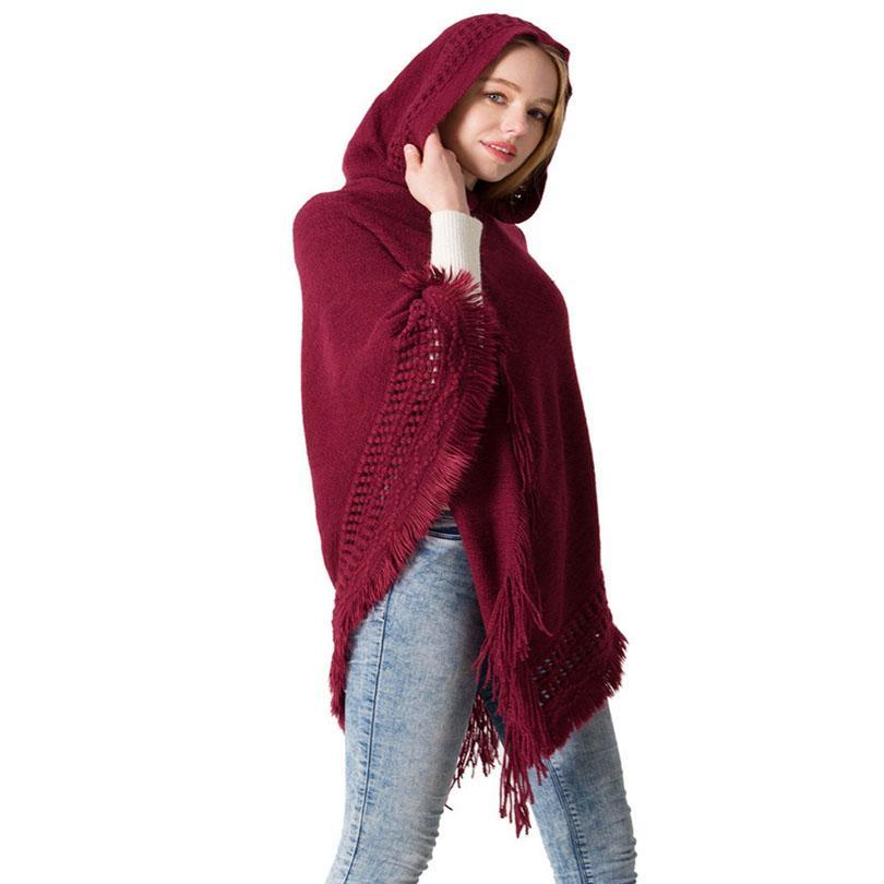 Acheter Foulard Femme Style Ethnique 2018 Automne Hiver Nouveau Cape  Capuche Tricotée Châle Tête Monochrome Pull Capuche Grand Châle De  35.85  Du ... f8131dac5db