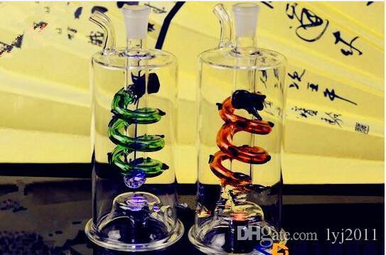 Bottiglia di acqua del drago lampeggiante Bong di vetro all'ingrosso Bruciatore a nafta Tubo di acqua in vetro Rigs di petrolio Rigs di fumo