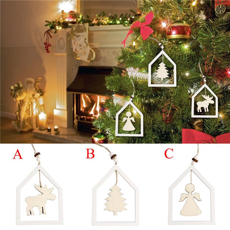 15cm Woden Christmas Tree Hanging Pendant Angel Xmas Tree Small String  Hanging Ornament New Year Home Decoration Supplies The Christmas  Decorations The ... - 15cm Woden Christmas Tree Hanging Pendant Angel Xmas Tree Small