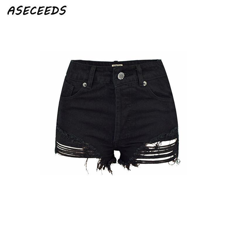 Trendy Shorts Womens Summer High Waist Jeans Shorts Denim Shorts Base Layers & Compression Women A