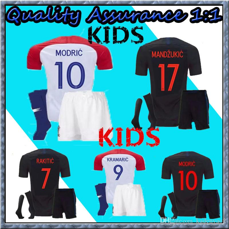 Thai Quality Kids Kit 2018 World Cup Designed for Soccer Jersey ... d70a8afb5