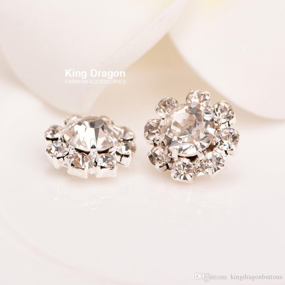 Crystal Rhinestone Button Sew On Flower Center 10MM Shank Back Or ... af85a2c949f5