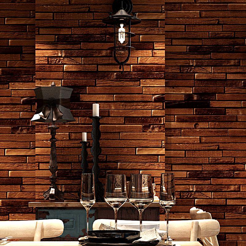 Papel Parede Vintage Ziegel Tapete 3d Home Decor Retro Braun Rot Wandpapierrollen Fur Shop Wande Dekoration Decoracao Casa
