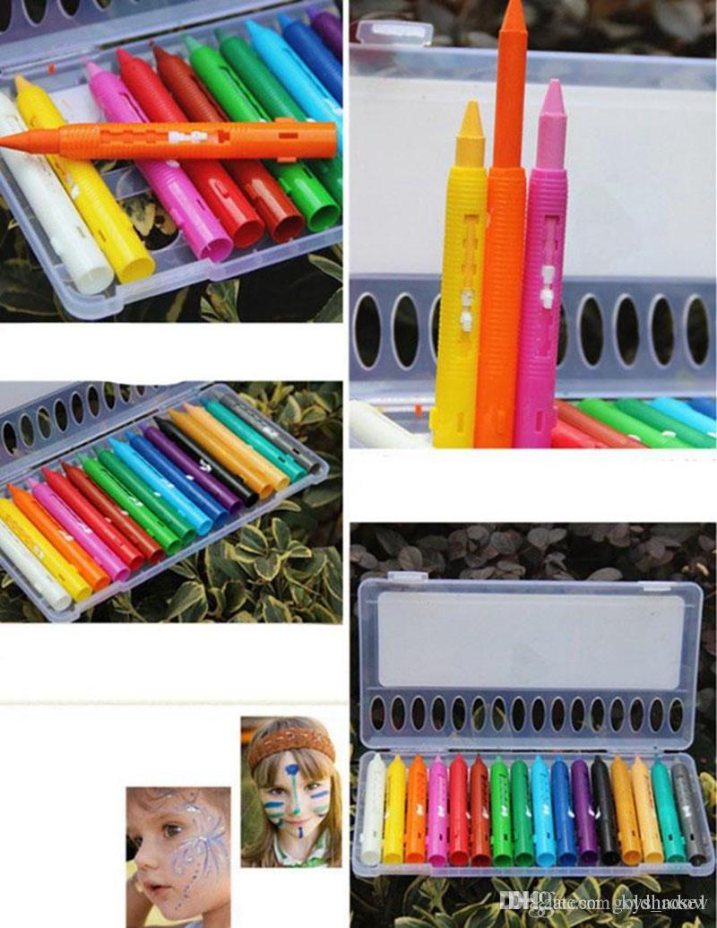 Learning & Education Brilliant Details About New 7 Colors Cute Stacker Swap Smile Face Crayons Children Drawing Gift 2018 New