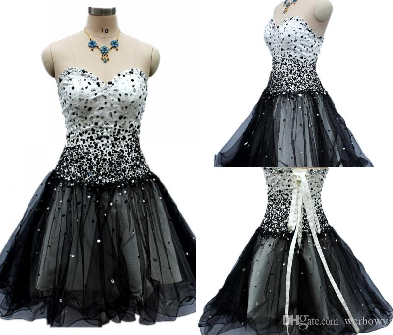 b320e1e864f High Quality New Black Prom Gowns Tube Top Halter Strap Short Tulle Party  Cocktail Dresses HY0288 Burgundy Prom Dresses Dresses For Prom From  Werbowy