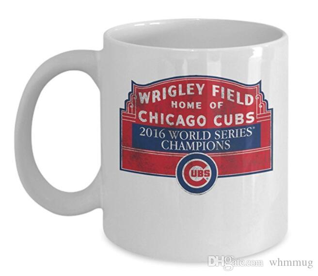 Cubs 2016 World Series Champions Coffee Mug Cup White 11oz Chicago Cubs Gifts Merchandise Accessories Shirt Sticker Cups And Mugs Online Cups Mugs From ...