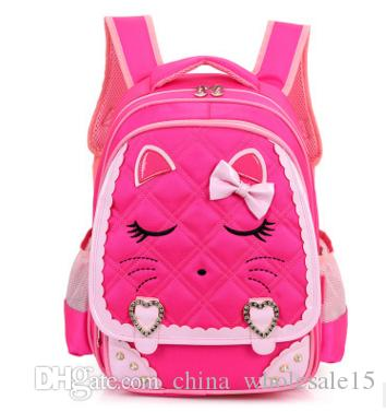 AGI-411 8-10 years old Cartoon Kids School Backpack Children School Bags For Kindergarten Girls Boys Nursery Baby Student book bag mo