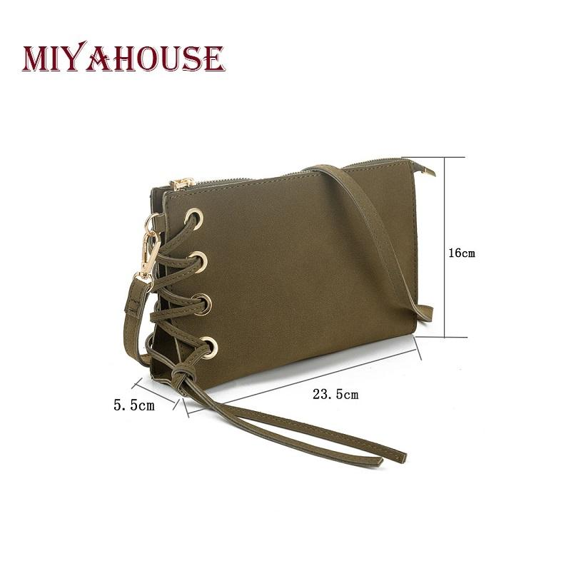 Miyahouse Moda Bolsa de Embrague de Las Mujeres Suave Pu Correa de Cuero Diseño Bolsa de Hombro Con Wristlet Mujeres Mini Crossbody Messenger Bag