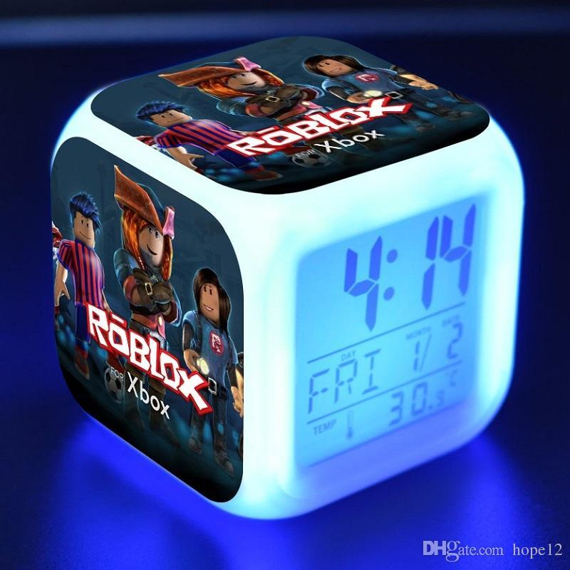 20pcs Roblox Toys Figure LED Alarm Clock Colorful Touch Flash light Amine Figuras Desktop Decoration