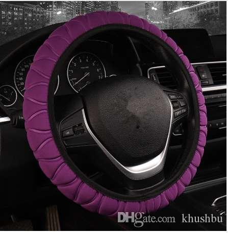 Car & Truck Steering Wheels & Horns Car Soft Ice Silk Steering Wheel Cover Anti-slip Protector Fit 38cm/15inch Black Car & Truck Parts